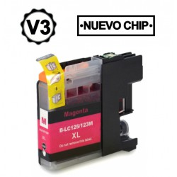 BROTHER LC121XL/LC123XL V3 MAGENTA CARTUCHO DE TINTA...