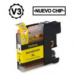 BROTHER LC121XL/LC123XL V3 AMARILLO CARTUCHO DE TINTA...